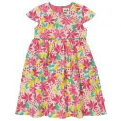 Φόρεμα κοντομάνικο με εξωτικά λουλούδια Kite